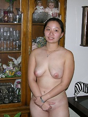 Asian College Student Strips And Spreads Apart Nude