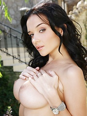 Hot-looking brunette nubile Jenya