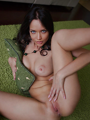 Marica looks enticingly delectable as   she flaunts her gorgeous naked body and   poses erotically on the carpet.