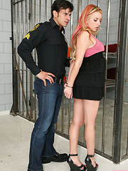 Naughty Lexi Belle gets fucked by Anthony Rosano the dirty Police Man