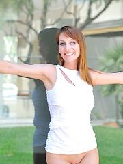 Leanne white dress strip