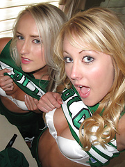 2 hot fucking miniskirt cheerleaders get fucked hard up their tight ass pussies in this high school babe amateur girlfriend pics