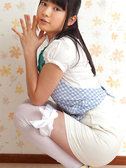 Tomoe Yamanaka Asian takes clothes off with playful moves for you