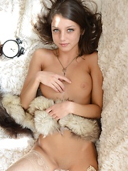 18-year-old Nensi B with the sweet baby face and delicate body