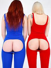 Hot long leg leggings lesbian sex pics