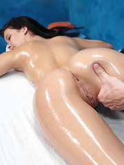 Alaina seduced and fucked hard by her massage therapist
