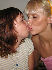 A couple of amateur girls get satisfaction together.
