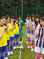 Japanese soccer sluts love to show off naked