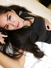 Horny Thai can't stop masturbating her pussy while getting fucked