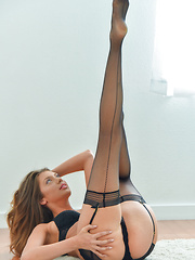 Black Stockings And Lingerie